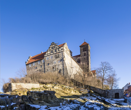 famous Castle and church in Quedlinburg, Germany