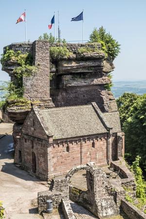 famous haute-barr castle in Alsace, Saverne, France