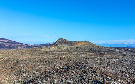volcano Montana Colorada in Lanzarote, Tinajo under blue sky