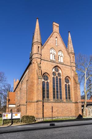 NEUBRANDENBURG, GERMANY - APR 1, 2016: Church of St. John, Neubrandenburg, Mecklenburg Western Pomerania, Germany