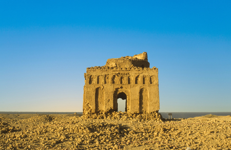 ruins of  Qalhat, an old abandoned former capital in Oman, arabic peninsula near Sur