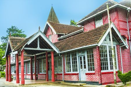 old victorian Post Office in the hilly town of Nuwara Eliya in Sri Lanka. The Post office was built by british architects.