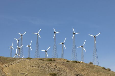 Photo for wind energy for producing electricity i California, USA covers a huge amout of energy - Royalty Free Image