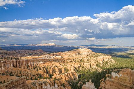 scenic Bryce canyon with dramatic sky, USA