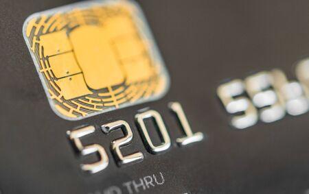 Photo pour Close up of credit cards. Concept of business, finance, shopping, and commerce. - image libre de droit