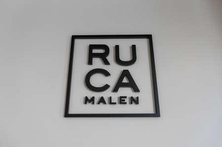 Mendoza, Argentina - January 26, 2019: Logo of Ruca Malen winery