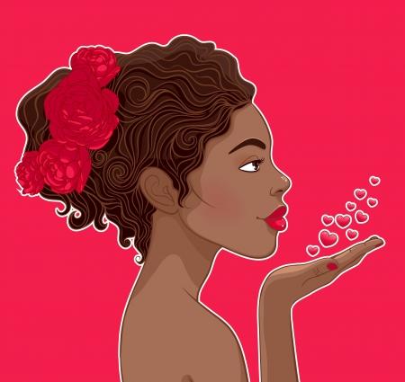 Beautiful African-American woman in loveAfrican-American woman in love