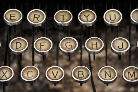 old typewriter keyboard predecessor of the electric typewriter and keyboard pc