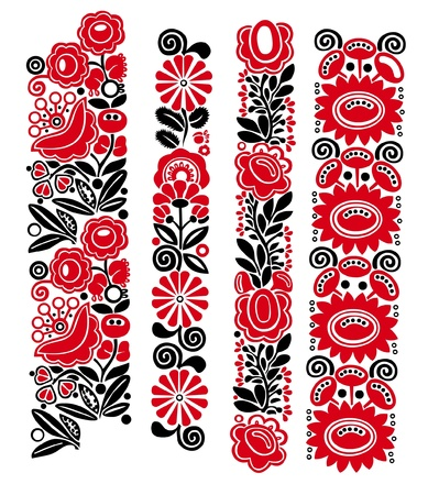 Traditional Hungarian floral patterns