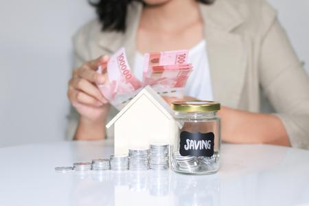 Photo pour saving to build home. Investment. Saving - image libre de droit
