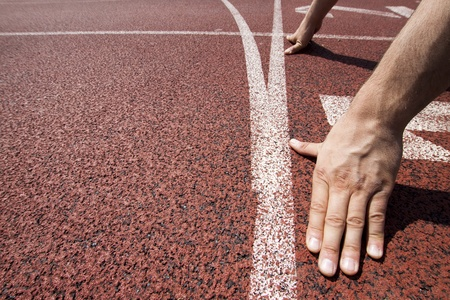 Runner at starting line