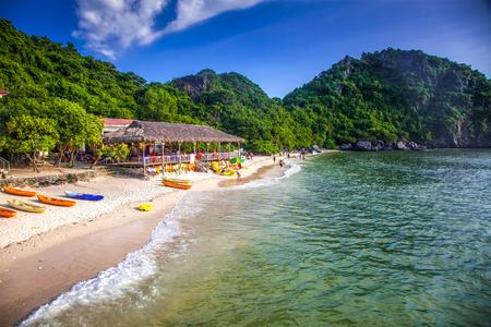 monkey island in Lan Ha bay, the southestern part of Ha Lng Bay, Vietnam