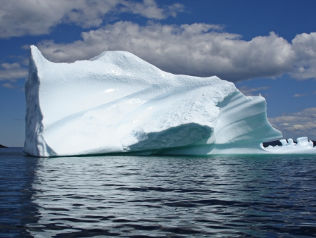 Ice Berg in Ocean off Newfoundland
