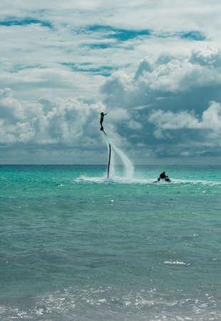 Fly Board at Playa del Carmen Quintana Roo in Mexico