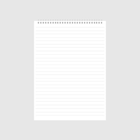 Illustration for blank realistic spiral notepad notebook icon. - Royalty Free Image