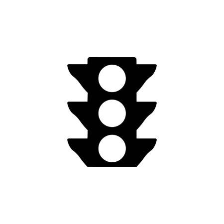 Illustration for Traffic light black sign icon. - Royalty Free Image