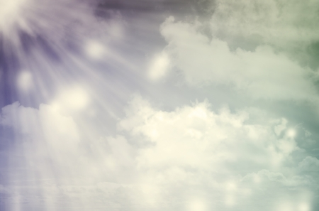 Sunbeams in a cloudscape