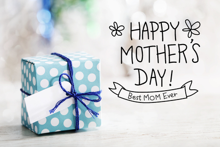 Happy Mothers Day message with small handmade gift box