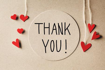 Foto für Thank You message with handmade small paper hearts - Lizenzfreies Bild