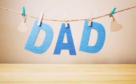 Father\'s day celebration theme with DAD letters