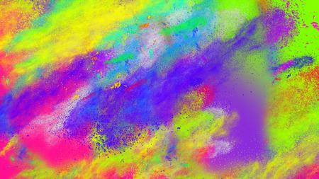 Photo pour Abstract coloful neon party dust splashes background - image libre de droit