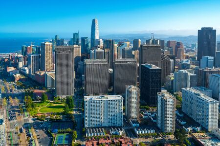 Photo for Downtown San Francisco aerial view of skyscrapers - Royalty Free Image