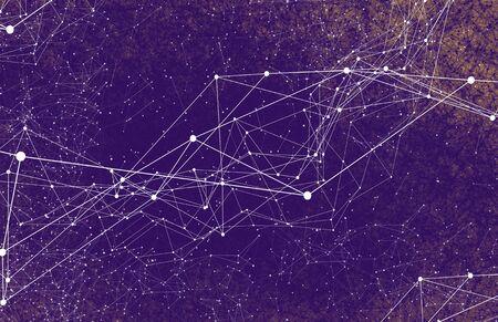 Photo pour Abstract technology AI geometric futuristic lines - image libre de droit