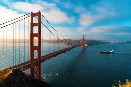 Photo for San Francisco's Golden Gate Bridge from Marin County - Royalty Free Image