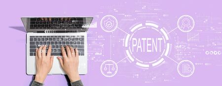 Photo for Patent concept with person using a laptop computer - Royalty Free Image