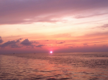Sunset on south padre island