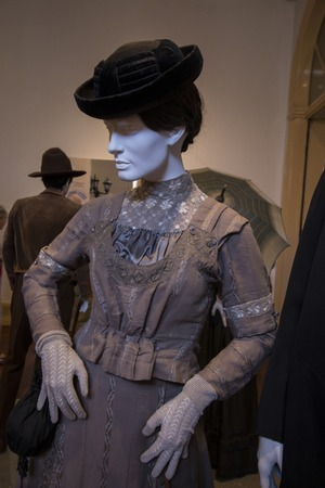View of the famous Costume Museum of the classic era in Sao Bras de Alportel, Portugal.