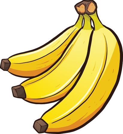 Illustration pour A bundle of cartoon bananas. Vector clip art illustration with simple gradients. All in a single layer. - image libre de droit