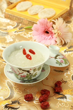 Bird nest soup with Chinese Herb