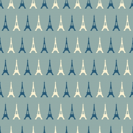 Seamless pattern with Eiffel Tower. vector background