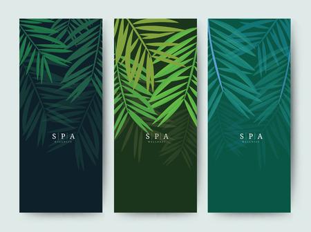 Illustration for Branding Packageing Flower nature background, logo banner voucher, spring summer tropical, vector illustration - Royalty Free Image