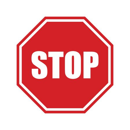 Illustration pour STOP sign! Traffic stop sign isolated on white background. - image libre de droit