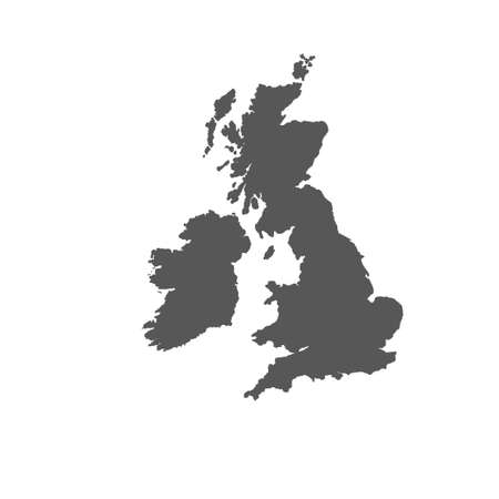 Illustration pour The Great Britain map in gray on a white background - image libre de droit
