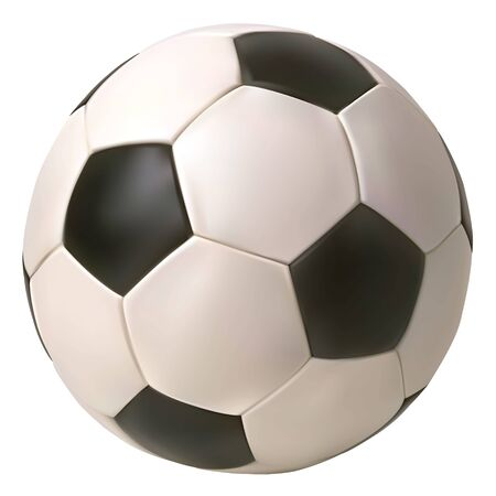 Illustration pour Realistic vector soccer ball. Isolated in white background. - image libre de droit