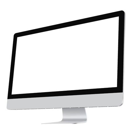 Illustration pour Computer screen. Realistic vector file. Isolated in white background. - image libre de droit