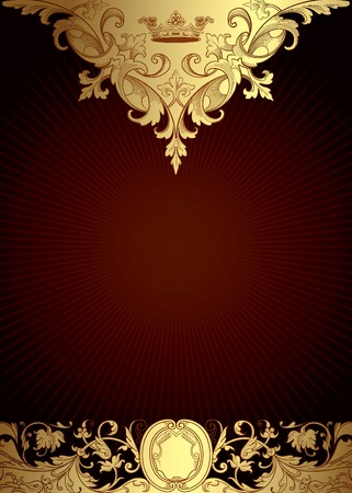 Illustration for Victorian Style Floral Background - Royalty Free Image