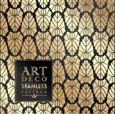 Illustration for Art Deco vintage wallpaper pattern can be used for invitation, congratulation - Royalty Free Image