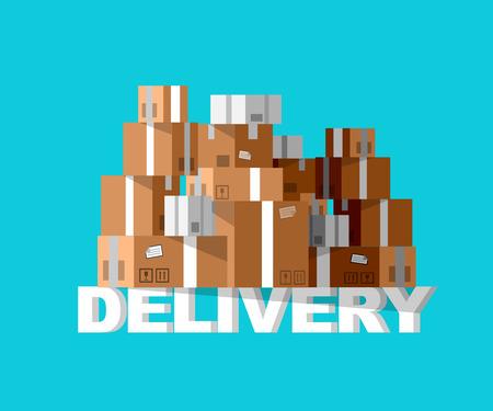 Illustration pour Delivery box. Vector Delivery. Delivery detailed illustration box. Delivery fast to the door and box. Delivery vector illustration box - image libre de droit