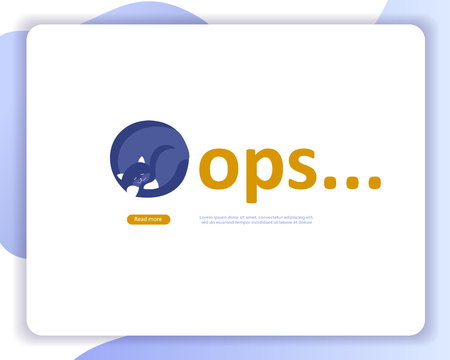 Illustration for Landing page templates Error page illustration with cat or kitten characters and cat. Page not found. Vector concept illustration for 404 error with Funny cartoon workers - Royalty Free Image