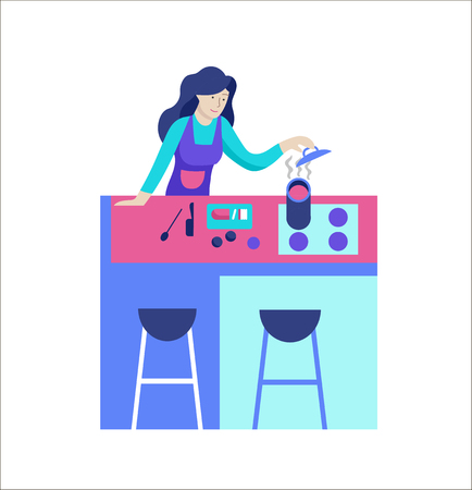 Illustration for People enjoying their hobbies. Vector character. Colorful flat concept illustration. - Royalty Free Image