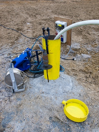 Hydrologeology borehole during pumping test