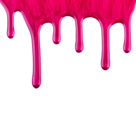 Purple paint on isolated white background