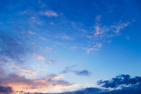 Photo for Beautiful evening sky with clouds. Sunset - Royalty Free Image