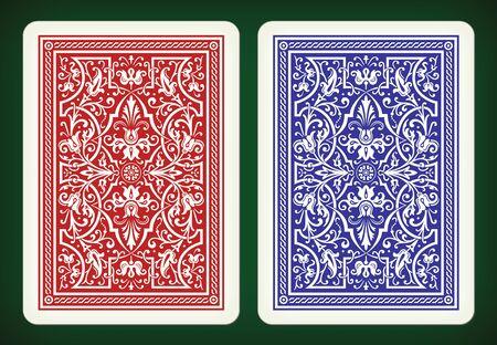 Illustration pour Back side design - playing cards vector illustration - image libre de droit