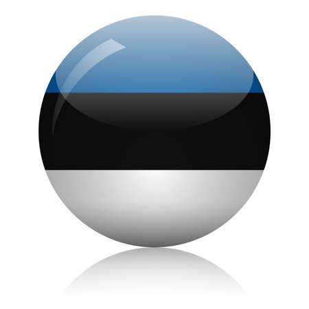 Illustration pour Estonian flag glass icon vector illustration - image libre de droit