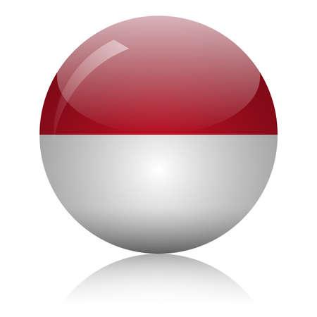 Illustration pour Monaco's flag glass icon vector illustration - image libre de droit